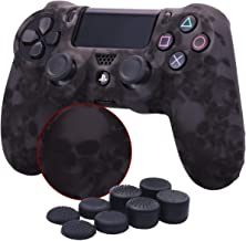 YoRHa Water Transfer Printing Skull Silicone Cover Skin Case for Sony PS4/slim/Pro..