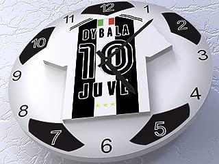 FanPlastic Paulo Dybala 10 FC Juventus Legends Edition - European UEFA Champions League Soccer Ball Wall Clock