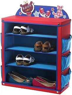 ZJ-Armario de zapatos Zapatero Infantil Zapato de Tela Oxford Bebé Zapato de bebé Zapatero de guardería (Color : Azul)