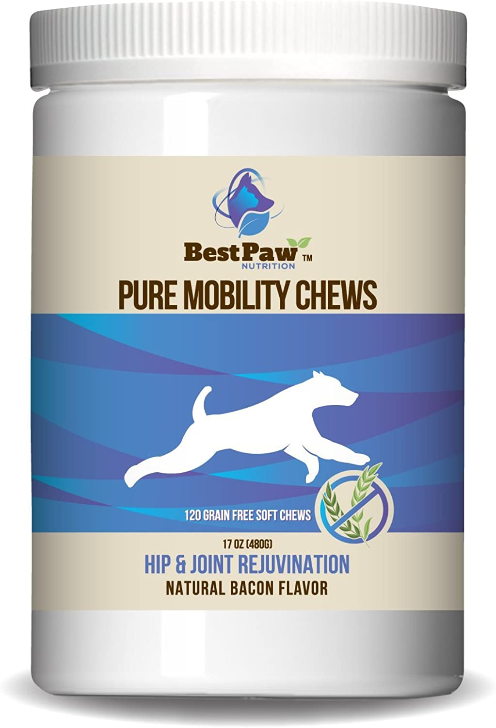 Glucosamine for Dogs Joint Health Soft Chew Reward Treats Natural Medicine Food Supplement with MSM Chondroitin & Organic Turmeric for Inflammation Arthritis Pain Relief & Comfort Made in The USA