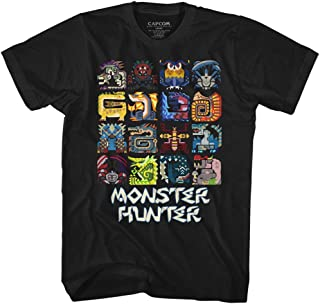 Monster Hunter Symbols Black Adult T-Shirt Tee