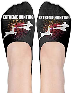 remmber me, Extreme Hunting Deer Karate Karate Women Performance Comfort Fit No-Show Calcetines.