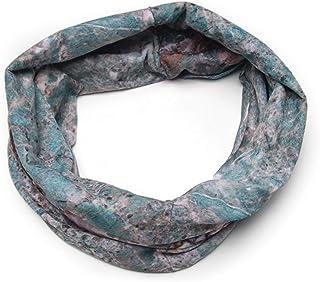 Banded Infinity Headwrap Blue Marble Boho Headband Bohemian Chic Hair Style