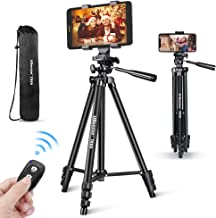 UBeesize Phone Tripod, 50'' Extendable Lightweight Aluminum Tripod Stand with..