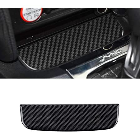 BLAKAYA Compatible with Sticker Carbon Fiber Storage Box Organizer Tray Trim Cover Accessories for Ford Mustang 2015 2016 2017 2018 2019 2020 Red