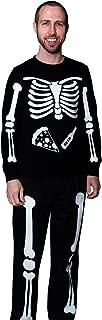 X-Ray Skeleton Beer & Pizza DIY Halloween Costume Full Body Iron on