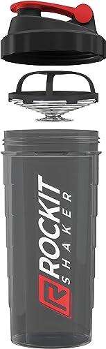 Rockitz Premium Shaker Proteines 1000ml - fonction de mélange premium avec filtre à infusion - pour des shakes protéi...