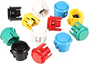 EG STARTS 12x 30mm Interruptor con botón pulsador Copiar Sanwa Obsf-30 Obsc-30 Obsn-30 Botones DIY Arcade Fighting Game Kits y Super Street Fighter Games - Cada color 2 piezas