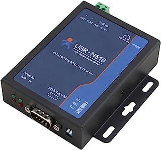 USR-N510 RS232 RS485 RS422 10 / 100Mbps産業用シリアルイーサネットコンバータ高レベルシリアルポート保護シリアルサーバーデバイスはウォッチドッグModbus RTUからModbus TCPをサポートTCPサー...
