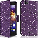 Seluxion Diamond style Wallet Shell Case in Purple for Wiko