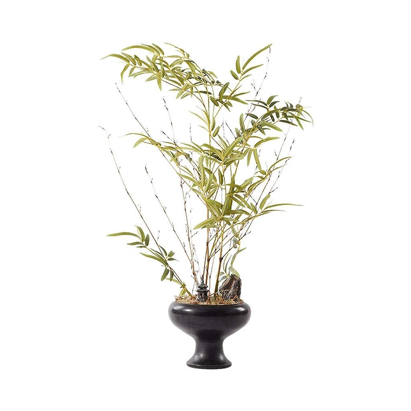 やろう叫び声アジテーション人工植物 中国の禅人工緑の植物、ポーチアイルソフトデコレーション和風シミュレーション工場、Wenzhu人工盆栽飾りの人工ツリー 人工木