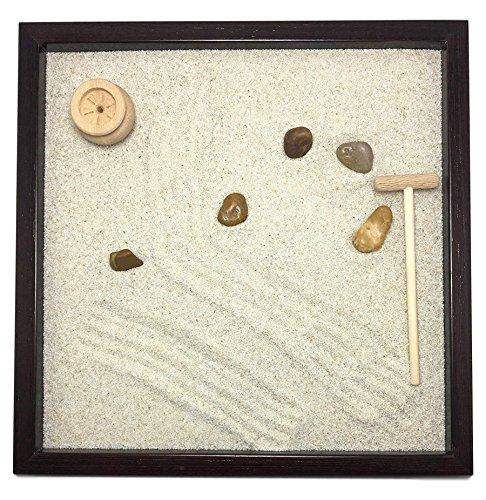 GIARDINO ZEN DA TAVOLO 25x25 2cm di legno massello WENGE lavorato artigianalmente fatto a mano - Prodotto di Qualita'
