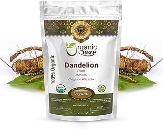 Organic Way Dandelion Root Whole (Taraxacum officinale) - European Wild-Harvest | Organic & Kosher Certified | Raw, Vegan,...