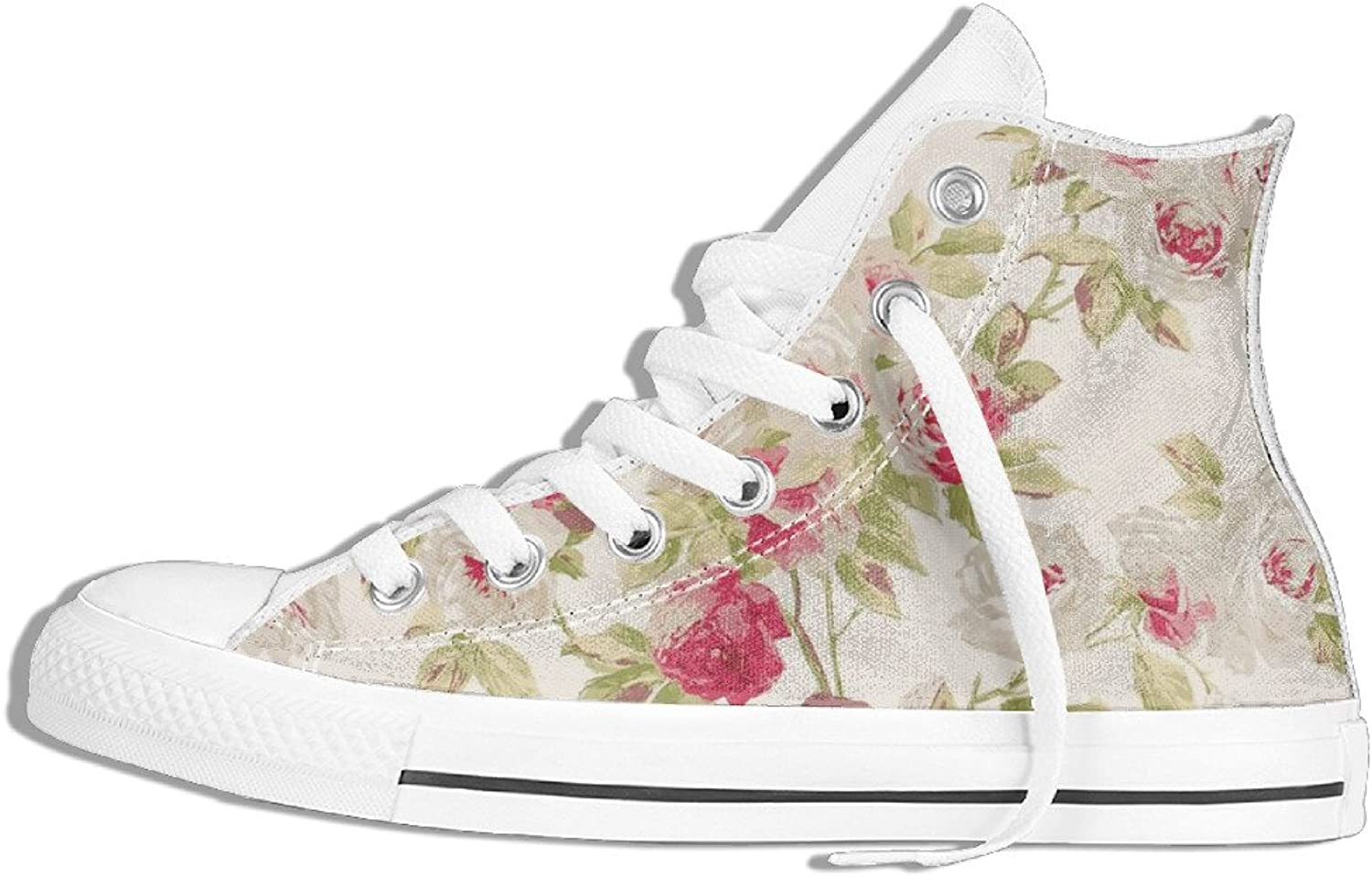 Efbj Fashion Floral Unisex Comfortable High Top Canvas Sneaker for Men and Women