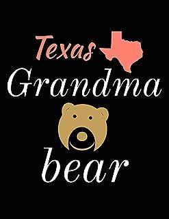 Texas Grandma Bear: Bear Journal Notebook to Write in