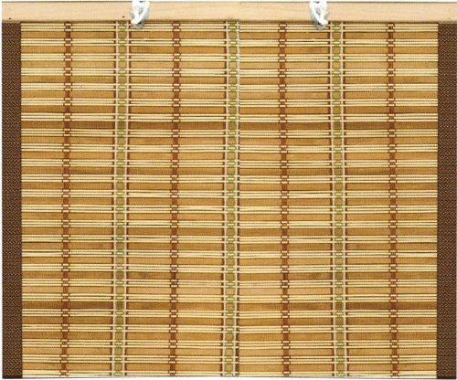 Tenda da sole Tapparella in midollino 2x3H mt con corda e bordo in cotone