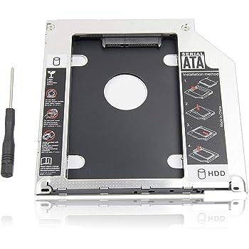 DollaTek Quatre canaux SATA 2 HDD HD Hard Drive Caddy /Étui pour 12.7mm CD Universal Laptop//DVD-ROM de Soutien Bay Optical 2.5SATA I II III HDD SSD