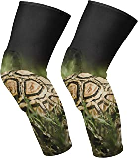 Knee Sleeve Best Turtles Full Leg Brace Compression Long Sleeves Pads Socks for Meniscus Tear, Arthritis, Running, Workout, Basketball, Sports, Men and Women 1 Pair
