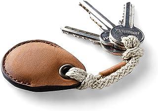 Leder AirTag Halter/Etui, Schlüsselanhänger, Classic Brown Schlüsselschleife handgefertigter Taschenanhänger Air Tag Cover...