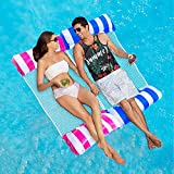 Inflatable Pool Floats Toys Adult Size, 2-Pack Multi-Purpose Swimming Pool Hammock (Saddle, Lounge Chair, Hammock, Drifter) Portable Pool Chairs Accessories Noodle, Water Hammock Lounge (Pink / Blue)