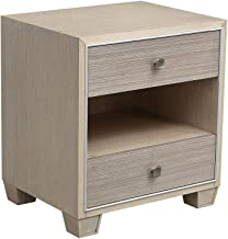 DHINGM Side End Table,Nightstand ,Bedside Table 2 Drawer Cabinet Bedroom Furniture