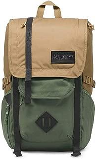JanSport Hatchet Travel Backpack - Laptop Bag Designed For Urban Exploration | Tan/Muted Green