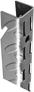 John Sterling HEAVYWEIGHT Diamond Plate Shelf Support System  Adjustable Wall Standard, 45-inch, Platinum, 0201-45PM