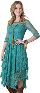 Dusty Turquoise Fields Lace Dress