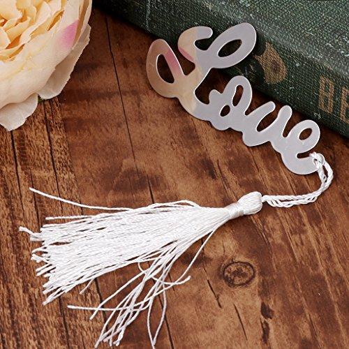 cuigu Roman Love Buchstaben hohlen Design Lesezeichen Hochzeit Geschenke kleine Geschenke Metall Decor