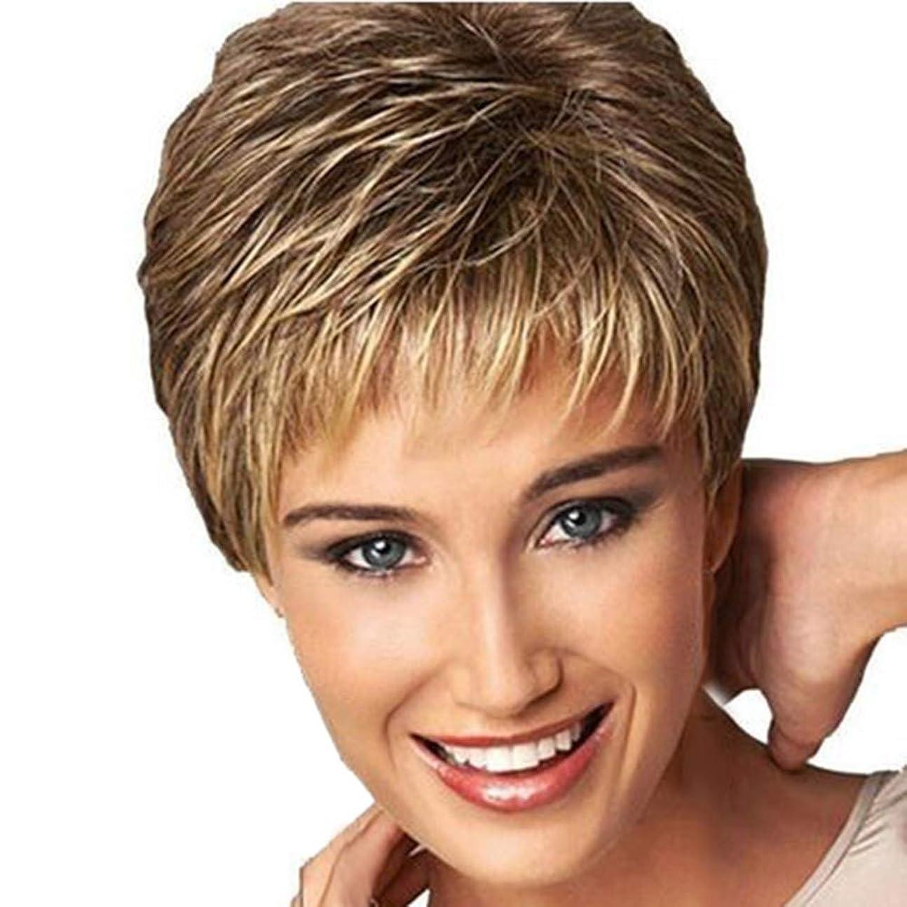 暴力的な日焼け暴力的なWTYD 美容ヘアツール 3ピースヘアケアかつらスタンド耐熱繊維かつら短い散髪カーリーカラーグラデーションかつらファッション