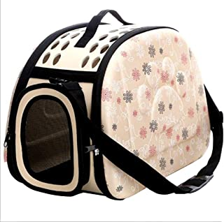 Champagne Pet Dogs and Cats Travel Bag Soft EVA Portable Foldable Pet Bag Breathable Outdoor Carrier Pet Bag Size S