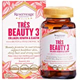 Reserveage, Tres Beauty 3, Beauty Supplement for Hair, Skin and Nails with Collagen, Keratin and Biotin, Gluten Free, 90 Capsules (30 Servings)