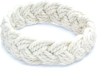 World End Imports White Cotton Sailor Knot Bracelet