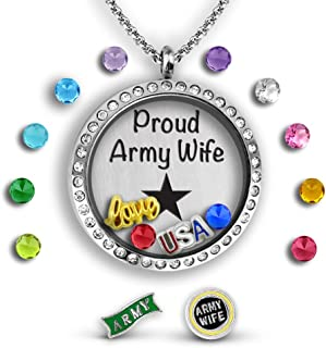 Best army wife necklace Reviews