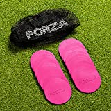 FORZA Mini Flat <span class='highlight'>Disc</span> Markers [20 Pack] | Multi-Surface PVC <span class='highlight'>Disc</span>s (Pink)