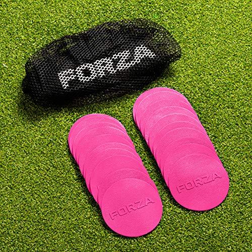 FORZA Mini Flach Disc Markers [Packung 20] | Multi-Surface PVC Ausbildung Discs (Rosa)