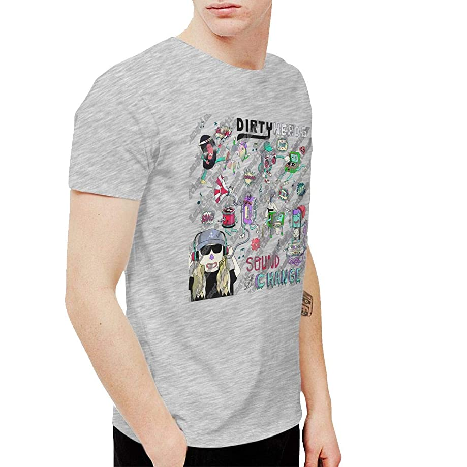 RHZTPYRDE Men's Dirty Heads Tour 2019 Short Sleeve Funny T-Shirts Cotton Tees Gray