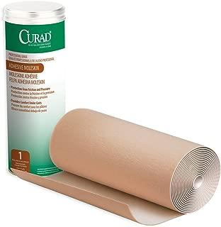 CURAD Adhesive Moleskin Roll, Prevent Blisters, Corns and Calluses, 9