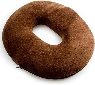kinokoo Hemorrhoids Cojín de Asiento Donut después de la cirugía y el cojín de Parto Aliviar el Dolor de la sesión(marrón para Hombres)