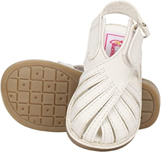 Buckled Up Classy White Casual Smart Sandals for Boys