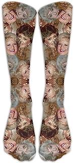 Beach Surfers Golden Girls Toss Art Printed Socks Crazy Patterned Fun Long Cotton Socks