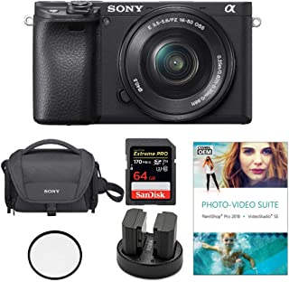 Sony Alpha a6400 24.2MP Mirrorless Digital Camera with 16-50mm Lens Bundled with Corel Photo Software, Koah Power Kit, Car...