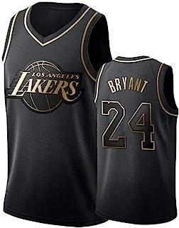 Men's and Women Basketball Jerseys,Kobe Bryant 24# NBA Lakers Basketball Clothes Cool Breathable Fabric Swingman Sleeveles...