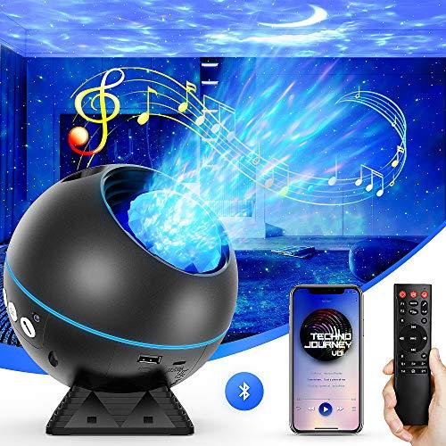 Projecteur Ciel Etoile, 27 Modes Planetarium Projecteur LED Veilleuse Enfant Rotatif 360°, Océan Galaxie Lampe Projecteur Luminosité Réglable/Bluetooth /Télécommande/Timer pour Bébé Décoration Chambre