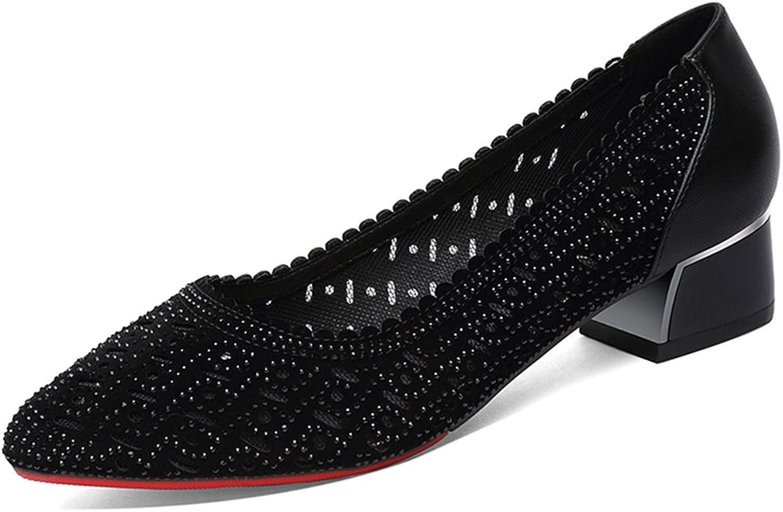 Sandals Female High Heel Summer Single shoes Women's shoes (color   Black, Size   39)