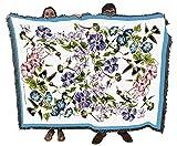 Hummingbirds - Helen Vladykina - Cotton Woven Blanket Throw - Made in The USA (72x54)