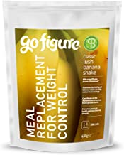 GoFigure Meal Replacement Shake With SlimBiomeA Weight Management Ingredient Lush Banana Prebiotic Fibre Protein 14 meals 206 Calories Per Serving 630 Gram Pouch