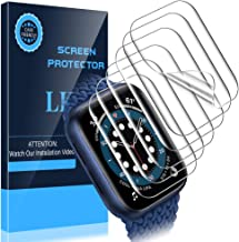 LK [6 Pack] Screen Protector for Apple Watch Series 6 / SE 44mm,[Model No. KR486] [Max Coverage] [Self-Healing] [Bubble Fr...