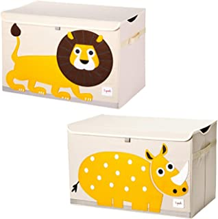 Bagnizer Large Toy Storage Chest Cute Animal Storage Bin with Flip-top Lid Collapsible Foldable Linen Toys Storage Trunk//Box//Basket for Baby Toddler Kids Nursery,13x13x13 blackcat