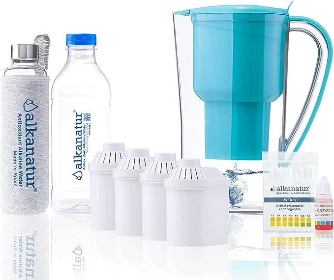 34 opinioni per Alkanatur- Set per depurare, alcalinizzare e ionizzare l'acqua, con bottiglia in